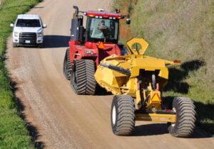 Bridgeview -Pulldozer transformer road