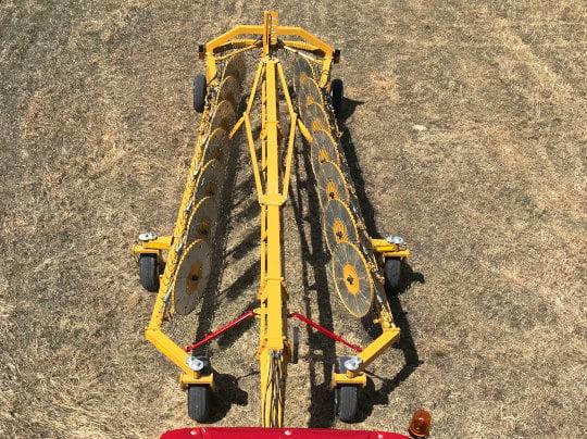 Bridgeview - Bale King rake in transport