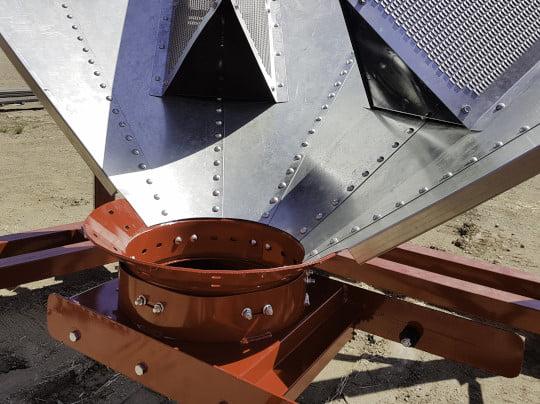Bridgeview - Bolt together hopper cone bottom chute