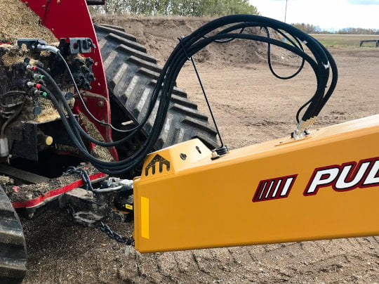 Bridgeview - Pulldozer blade hitch
