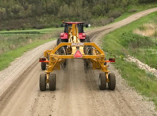 Bridgeview - Bale King VR683 hay rake on road in transport